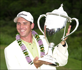 Sergio Garcia - Winner of the Mercedes Championships 2002